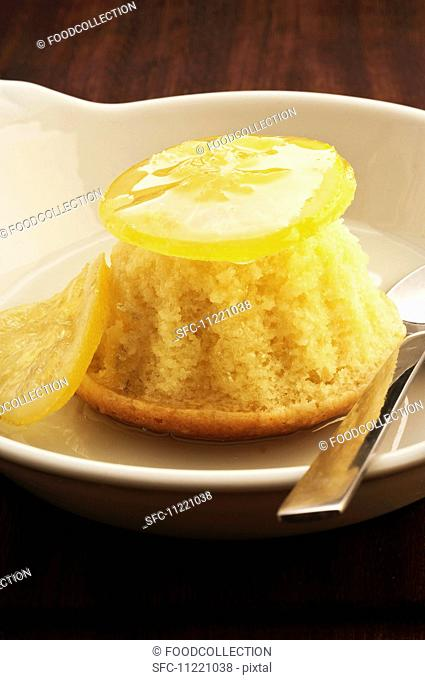 Steamed lemon pudding