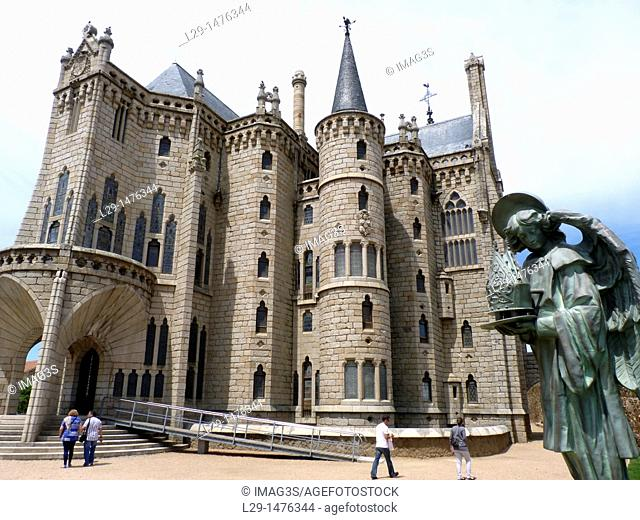 Palacio Episcopal, by Gaudi, Astorga, Camino de Santiago. León province, Castilla y León, Spain