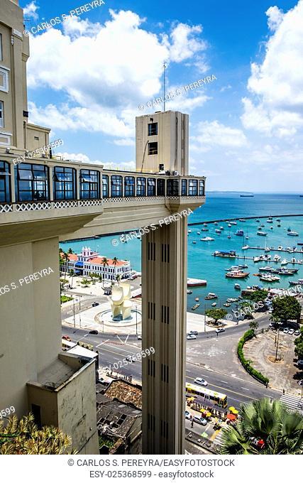 Elevador Lacerda elevator in Salvador do Bahia Brazil