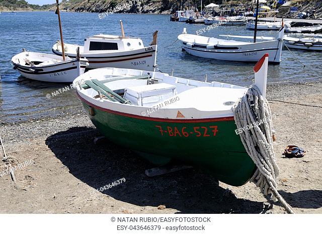Boat, Cadaques, Girona, Catalonia, Spain