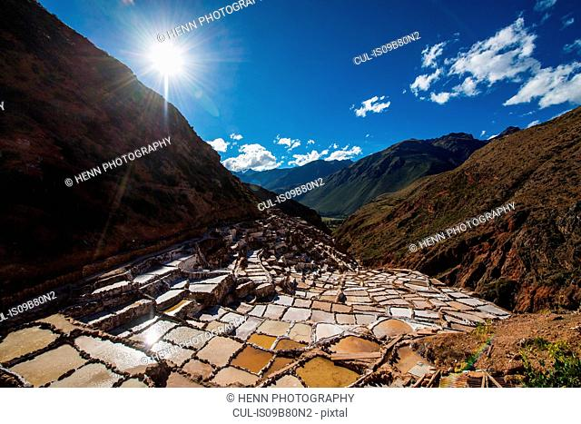 Salinas above Urubamba in the sacred valley of the incas, Peru