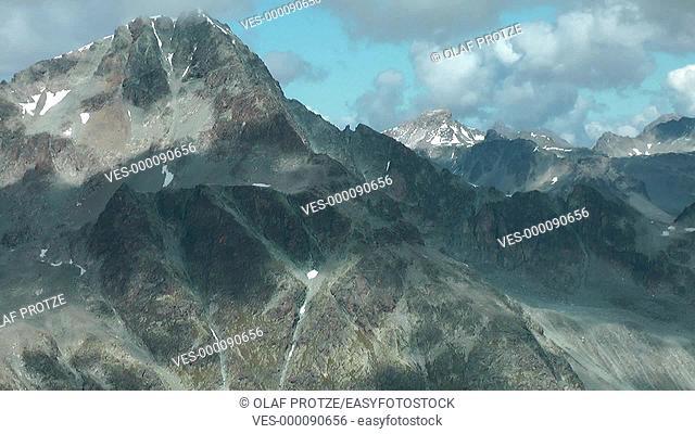 Mt.Piz Julier seen from Piz Nair, St.Moritz, Switzerland, Schweiz