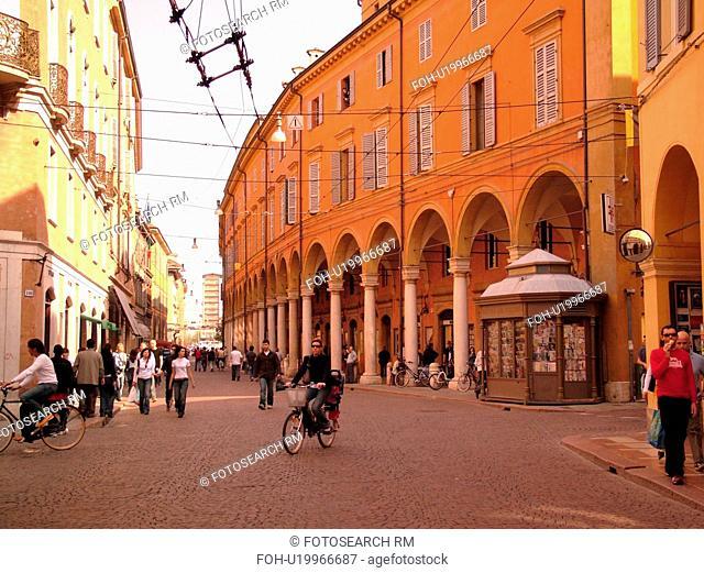 Emilia-Romagna, Italy, Modena, Europe, Via Emilia in downtown Modena