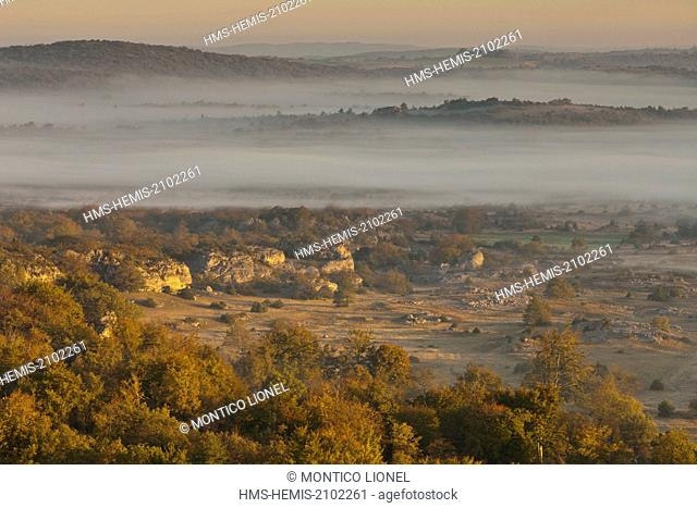 France, Herault, the Causses and the Cevennes, Mediterranean agro pastoral cultural landscape, listed as World Heritage by UNESCO, Le Caylar