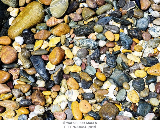Full frame of colorful pebbles