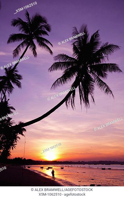 Mui Ne Beach in Vietnam, seconds after Sunset