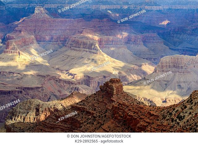Grand Canyon from the South Rim in winter, Grand Canyon National Park, Arizona, USA