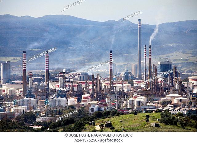 Spain, Andalucia Region, Algeciras City, Oil Refinery