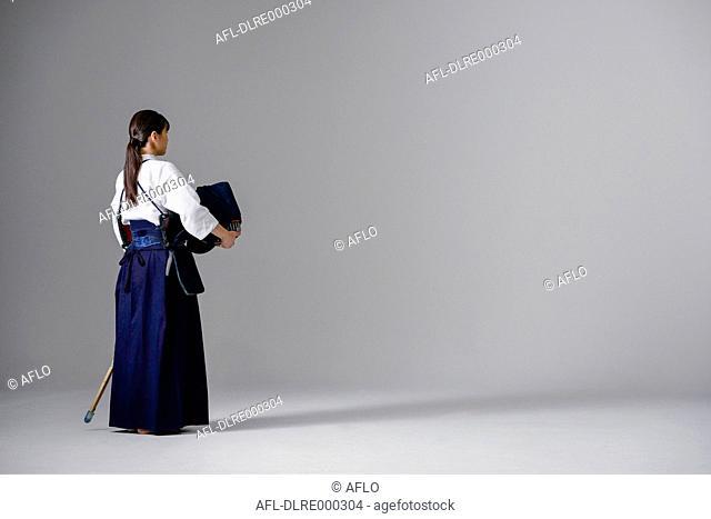 Female Japanese kendo athlete