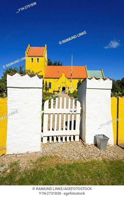 Door to Historic Church, Rørvig Church, Rørvig, Rorvig, Odsherred, Zealand, Denmark