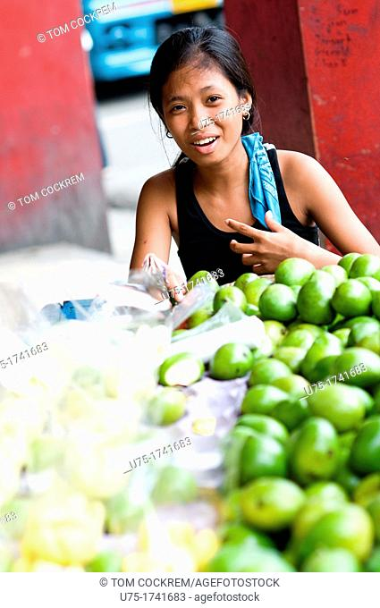 Fruit stall, Colon Street, Cebu City, Philippines