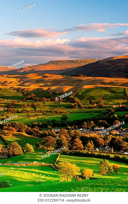 Sedbergh - small town at sunset