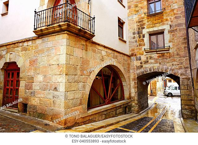 Mora de Rubielos village in Teruel Spain located on Gudar Javalambre Sierra