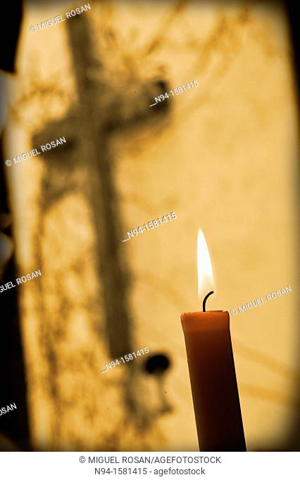 Candle as an offering religious and Christian worship
