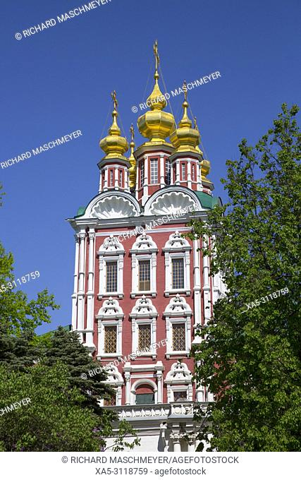 Transfiguration Gate Church, Novodevichy Convent, UNESCO World Heritage Site, Moscow, Russia