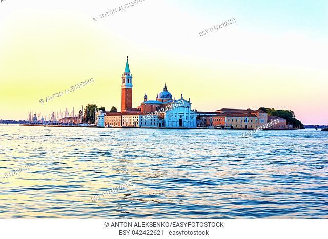 San Giorgio Maggiore Island View in Venetian Lagoon, Italy