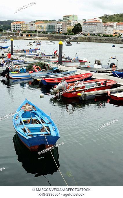 Boats at the port of Muxía. Coruña, Galicia, Spain