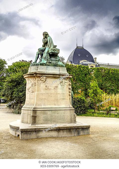 Lamarck statue, Botanical Garden, Paris, France