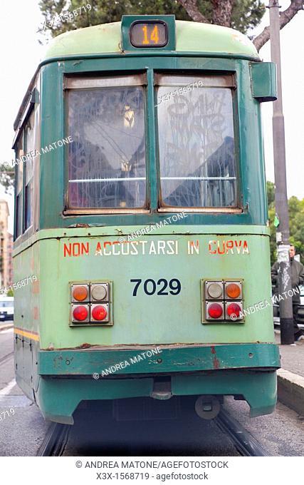 Tram 14 Rome Italy