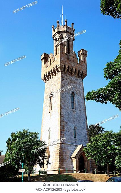 Victoria Tower adjacent to Candie Garden in St Peter Port, Guernsey, United Kingdom