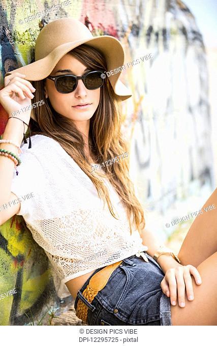 Fashion Lifestyle, Portrait Of Beautiful Young Woman