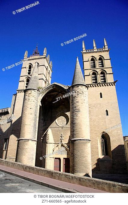 St Pierre cathedral. Montpellier. Languedoc. France