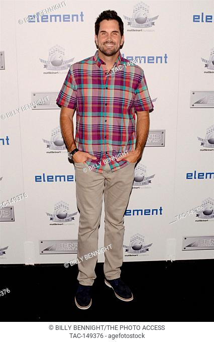 "Matt Leinart attends Matt Leinart Foundation's 9th Annual """"Celebrity Bowl"""" at Lucky Strikes in Hollywood on July 13, 2017"