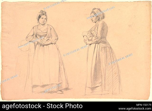 Two Studies of a Woman in Peasant Costume. Former Attribution: Formerly attributed to Alexandr Andreevic Ivanov (Russian