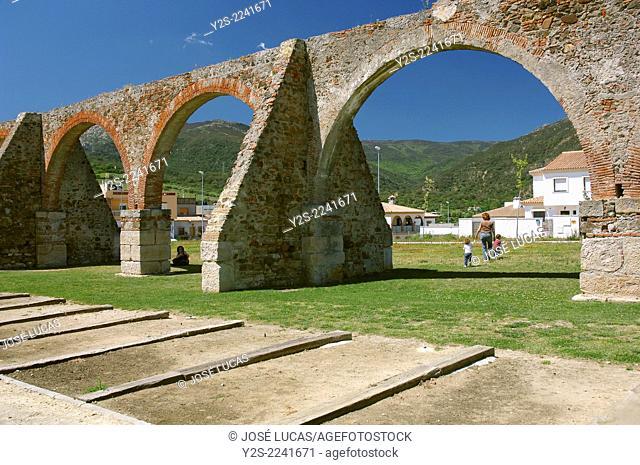 Aqueduct of Los Arcos, Algeciras, Cadiz-province, Region of Andalusia, Spain, Europe