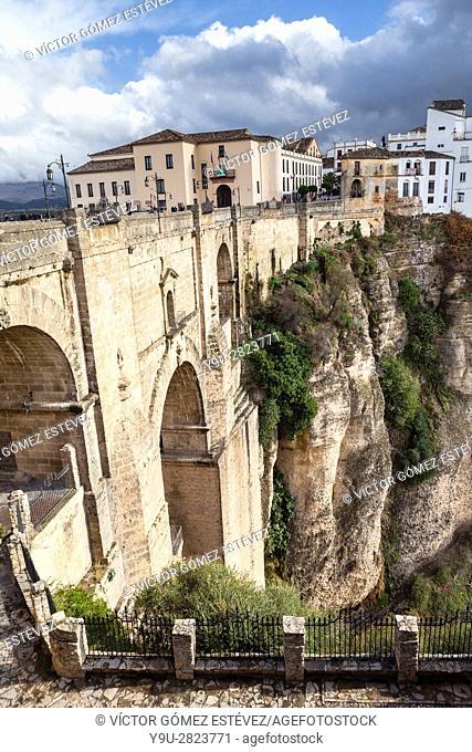 Ronda Bridge. Andalusia. Spain