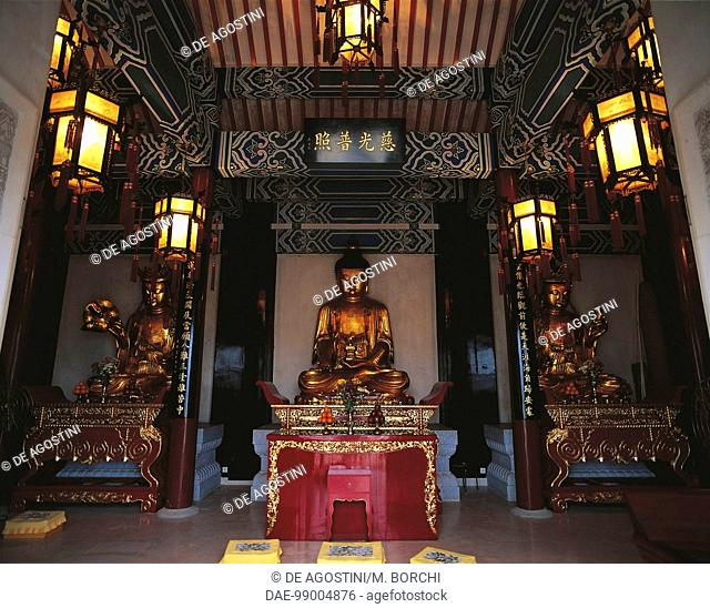 Buddha statue, Ten Thousand Buddhas Monastery, Sha Tin, New Territories, Hong Kong, China