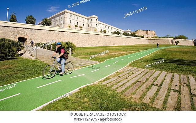 University, former military hospital, city wall, Cartagena, Costa Calida, Murcia, Spain