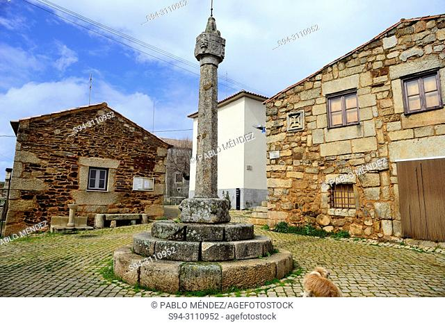 Square of Pillory (Pelourinho) in Idanha-a-Velha, Castelo Branco, Portugal