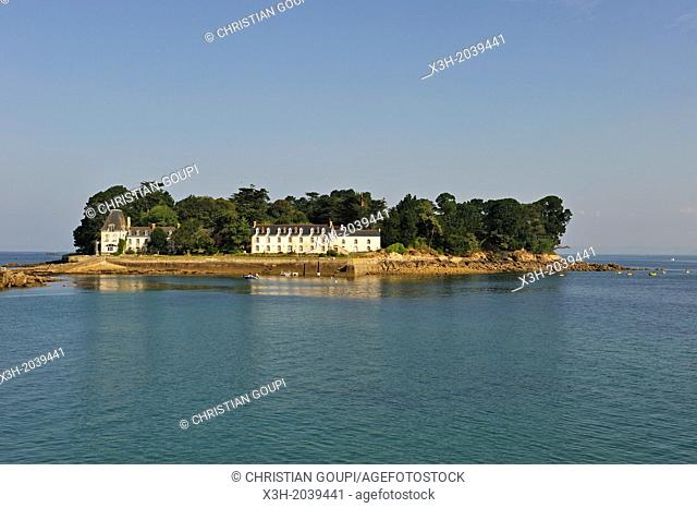 Tristan Island off Douarnenez, Finistere department, Brittany region, west of France, western Europe