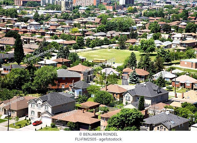 View of a City Neighbourhood, Toronto, Ontario