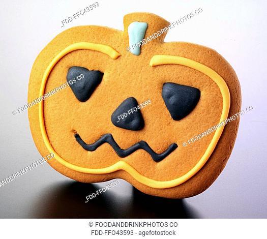 Halloween Pumpkin Biscuit Or Cookie
