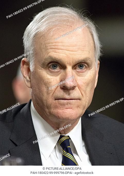 "United States Secretary of the Navy Richard V. Spencer testifies before the US Senate Committee on Armed Services """"on the posture of the Department of the Navy..."