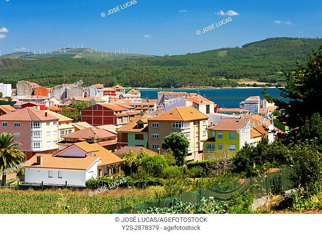 Village and landscape, Camarinas, La Coruna province, Region of Galicia, Spain, Europe