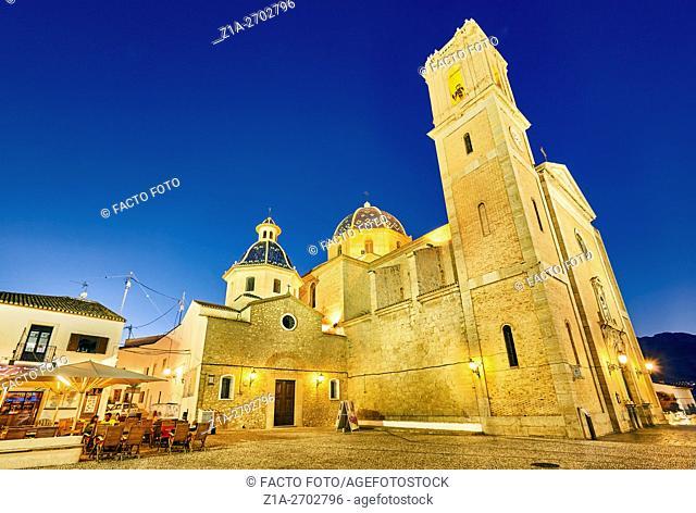 Church of Nuestra Se–ora del Consuelo. Altea. Alicante. Valencia community. Spain
