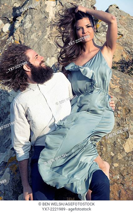 Couple. Tarifa, Cadiz, Andalusia, Spain, Europe