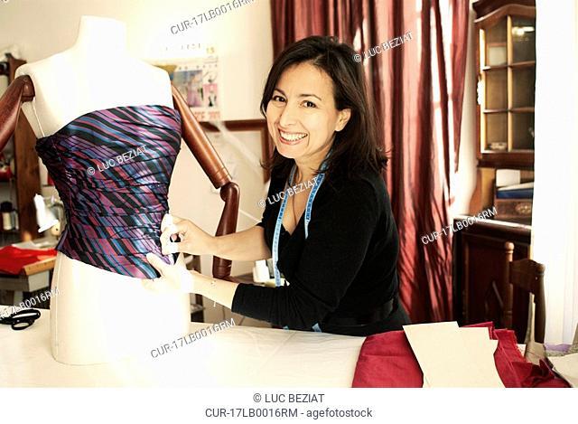 Portrait of a dressmaker entrepreneur