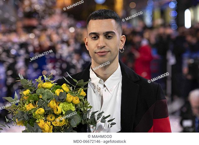 Mahmood on the Red Carpet of the 69th Sanremo Music Festival. Sanremo (Italy), Fabruary 4th, 2019