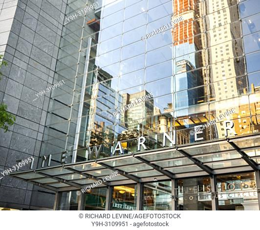 The Time Warner Center in New York on Tuesday, June 12, 2018. A federal judge has approved the $85. 4 billion merger between AT&T and Time Warner over the...
