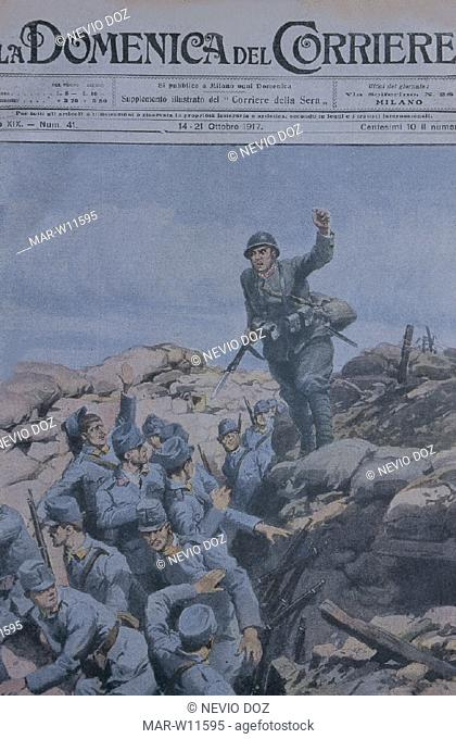 cover of la domenica del corriere newspaper printed during the first world war (1915-1918)
