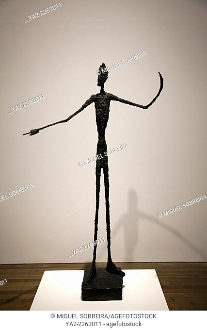 Giacometti's Man Pointing Sculpture at Tate Moden in lonodn - UK