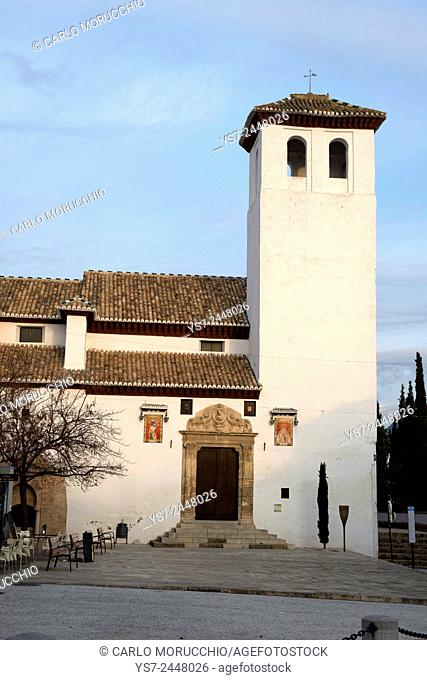 San Miguel Bajo Church, Albaicin neighborhood, Granada, Andalusia, Spain, Europe
