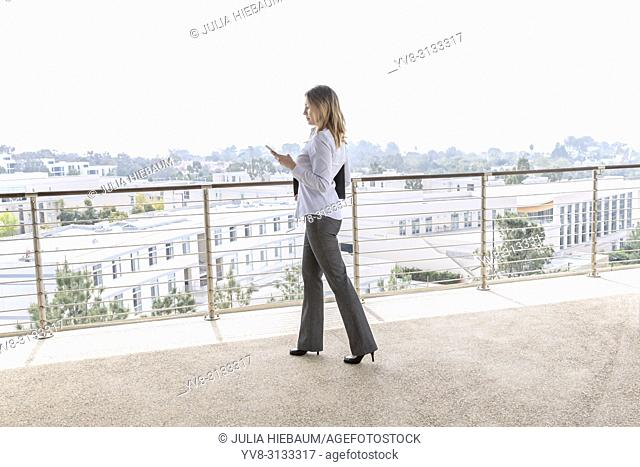 Female manager checking her schedule