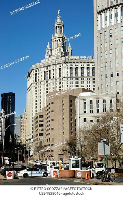 New York City, the City Hall, Downtown Manhattan