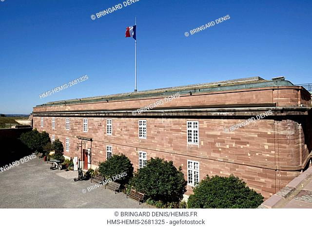 France, Territoire de Belfort, Belfort, the castle, military barracks built by General Haxo in 1826, History Museum