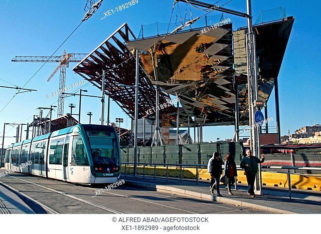 Encants Nous works, Plaza de las Glorias, Barcelona, Catalonia, Spain